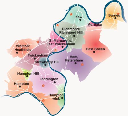 Richmond London Map.Village Plans London Borough Of Richmond Upon Thames